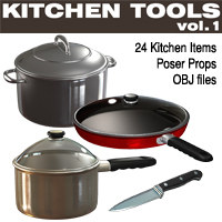 Exnem Kitchen Tools vol.1 3D Models exnem