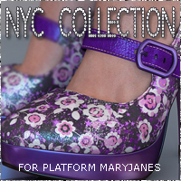 NYC Platform MaryJanes 3D Figure Assets 3DSublimeProductions