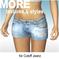 MORE Textures & Styles for Cutoff Jeanz Software Clothing Themed motif