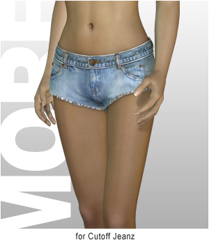 MORE Textures & Styles for Cutoff Jeanz 3D Models 3D Figure Assets motif
