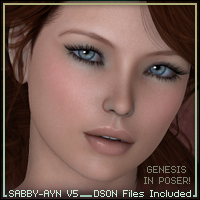 Sabby-Ayn for V5 3D Figure Assets Sabby