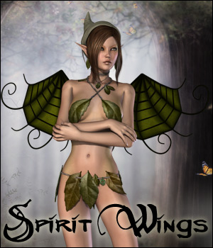 Spirit Wings V4 3D Figure Assets 3D Models RPublishing