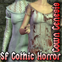 SF Gothic Horror Gown Genesis 3D Figure Essentials SickleYield