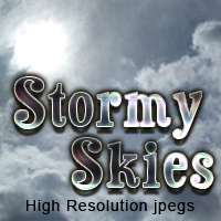 Stormy Skies cloud set Themed 2D And/Or Merchant Resources Stock Photography TheToyman