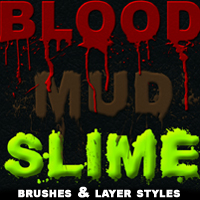 MK Blood Mud Slime 2D Graphics 3D Models mystikel