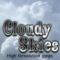 Cloudy Skies cloud set 2D And/Or Merchant Resources Themed TheToyman