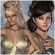 StoryBrook Hair V4, A4, G4, Miki4 3D Figure Essentials RPublishing