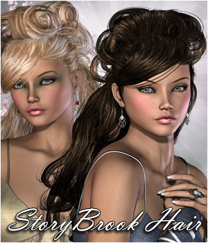 StoryBrook Hair V4, A4, G4, Miki4 3D Figure Assets RPublishing