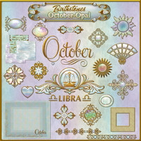 Birthstone Bling!: OCTOBER-OPAL 2D Graphics fractalartist01