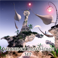 Heavenly Lighthouse Set Props/Scenes/Architecture Transportation Software Themed 1971s