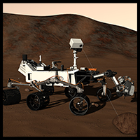 Mars rover Curiosity 3D Models 2nd_World