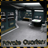 Ship Elements A4 - Private Quarters Software Props/Scenes/Architecture Themed 3-d-c