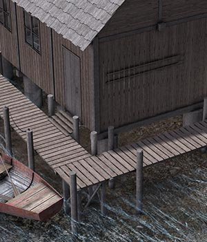 Fishing House 3D Models ile-avalon