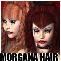 Morgana Hair 3D Models 3D Figure Essentials outoftouch