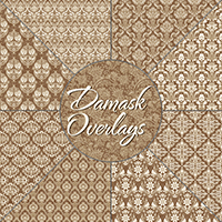 Damask Overlays 2D Graphics Atenais