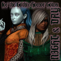 SF Night & Day for the Gothic Horror Gown  fuseling