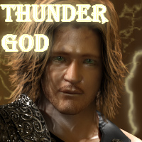 Thunder God for M4 3D Figure Assets 3D Models henrika_amanda