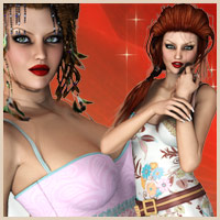 "Mixed Styles - for ""Diva"" 3D Figure Essentials 3D Models boundless"