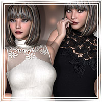 Vogue for TurtleNeck Style Clothing Themed Romantic-3D
