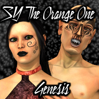 SY The Orange One Genesis 3D Figure Assets SickleYield
