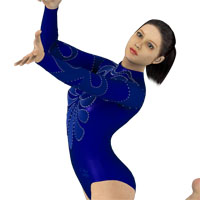 New Gym Leotard for Victoria 4 Base 3D Figure Essentials harry-cn