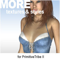 MORE Textures & Styles for PrimitiveTribe II Software Themed Clothing motif