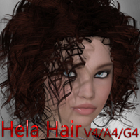 Hela Hair V4-A4-G4 3D Figure Essentials nikisatez