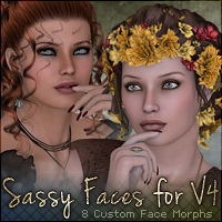 Sassy Faces for V4 Software Characters Sabby