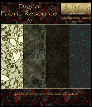 ABC's Digital Fabric Resource IV 2D Graphics 3D Models antje