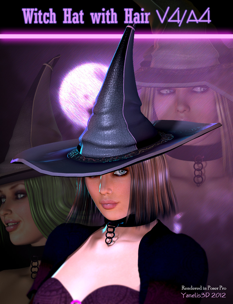Witch Hat and Hair V4/A4