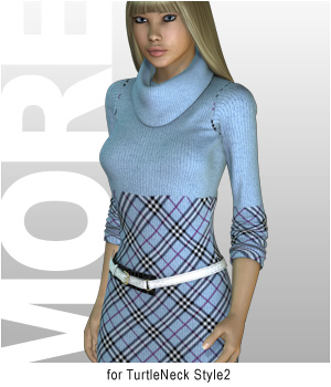 MORE Textures & Styles for TurtleNeck Style2 3D Models 3D Figure Assets motif