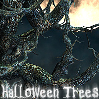 Halloween Trees 3D Models designfera