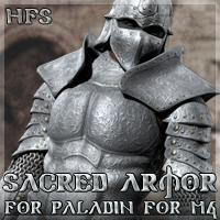 HFS Sacred Armor for Paladin M4 3D Models 3D Figure Essentials DarioFish