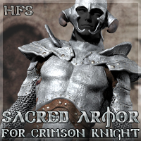 HFS Sacred Armor for Crimson Knight 3D Models 3D Figure Assets DarioFish