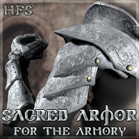 HFS Sacred Armor for The Armory 3D Models 3D Figure Assets DarioFish