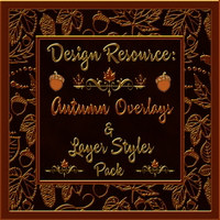 Design Resource: Autumn Overlays & Styles Pack Themed 2D And/Or Merchant Resources fractalartist01