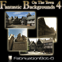 Fantastic Backgrounds 4 - On The Town 2D Graphics FabricationBot-6