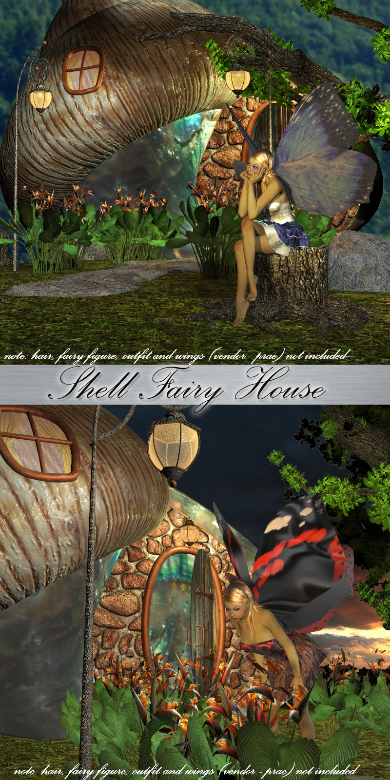 AJ Shell Fairy House