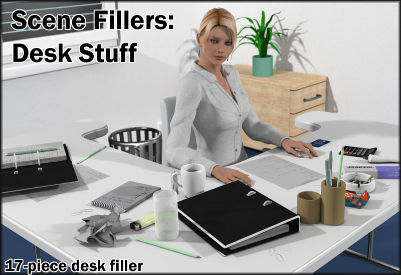 Scene Fillers - Desk Stuff by 3-d-c