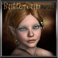MDD Buttercup for V4.2 3D Figure Assets Maddelirium