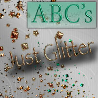 ABC's Just Glitter 2D And/Or Merchant Resources Themed antje