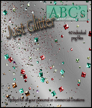 ABC's Just Glitter 3D Models 2D Graphics antje