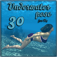 Underwater pose 3D Figure Essentials tuketama