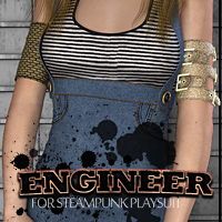 Engineer for Steampunk Playsuit Themed Clothing FrozenStar