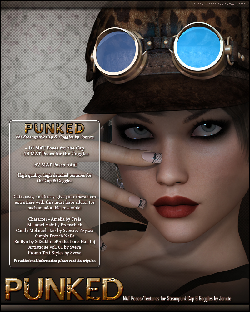 Punked for Steampunk Cap & Goggles