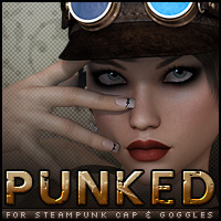 Punked for Steampunk Cap & Goggles Themed Accessories Sveva