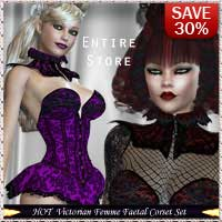 HOT Victorian FemmeFaetale Corset Set 3D Figure Essentials lululee