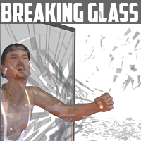 Breaking Glass 3D Models davo