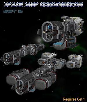 Space Ship Constructor Set 2 3D Models Simon-3D