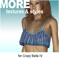 MORE Textures & Styles for Crazy Belle IV Themed Clothing motif